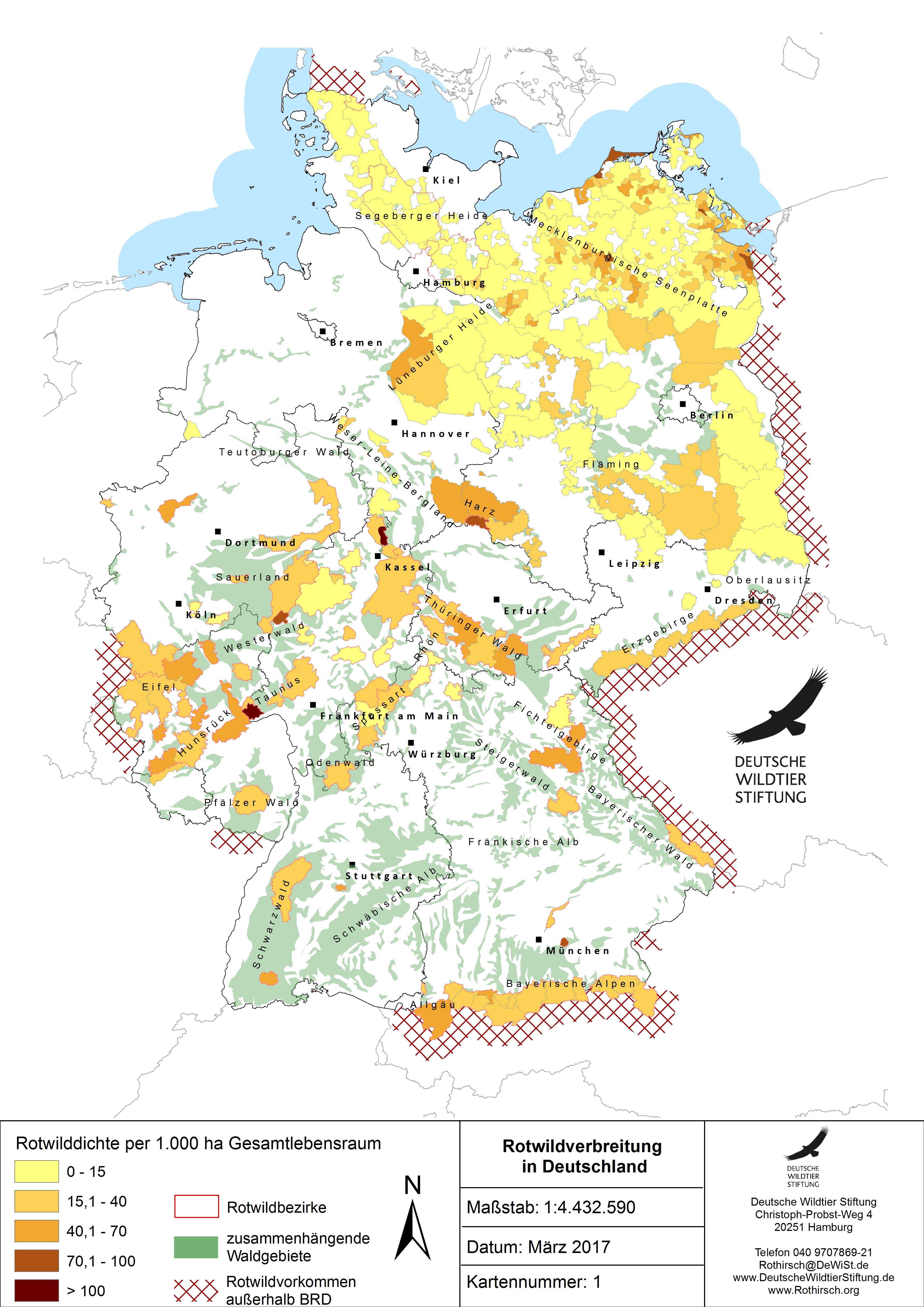 wildtiere in deutschland bilder